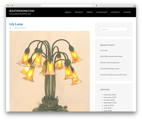 FastBlog WordPress template free download - baxternow.com