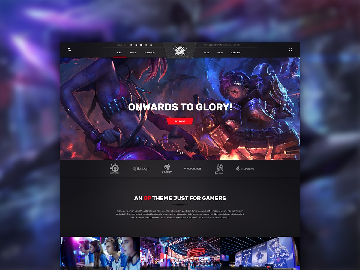 Playerx WordPress theme