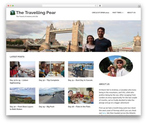 WordPress theme Poseidon - thetravellingpear.com