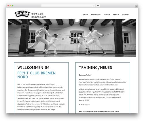 Enfold WordPress page template - fecht-club-bremen-nord.de