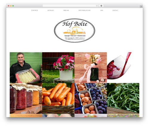 Healthy Farm WordPress website template - carsten-bolte.de