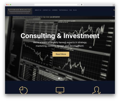Konsulting WordPress theme - leverage.financial