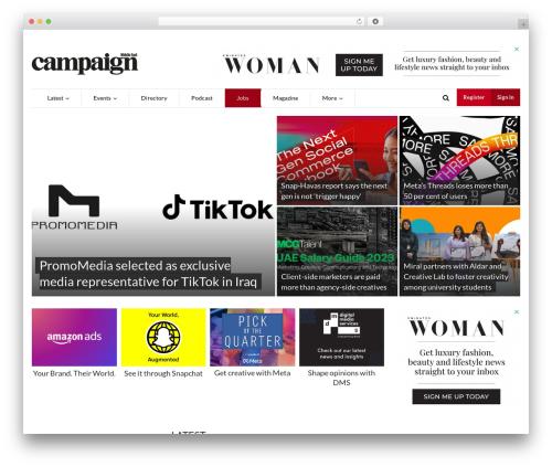 Newsmax WordPress magazine theme - campaignme.com