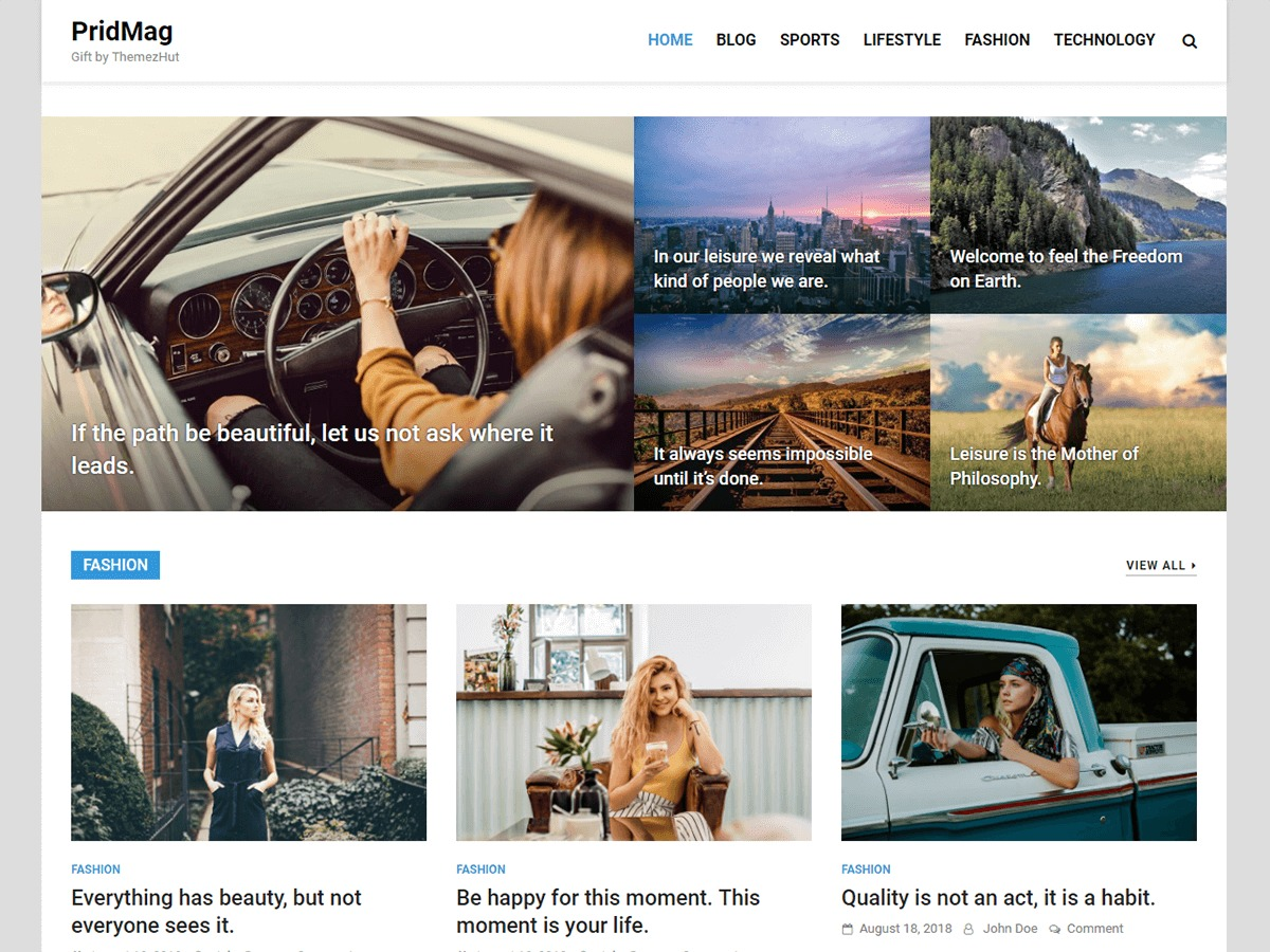 PridMag newspaper WordPress theme