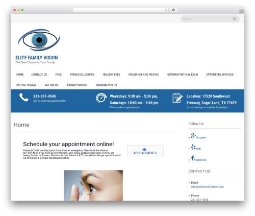 Sanitorium free WordPress theme - elitefamilyvision.com