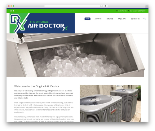 WordPress website template Conica - airdoctorservice.com