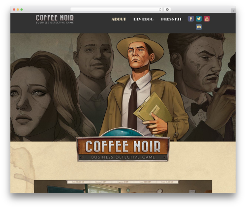 Orao business WordPress theme - coffeenoirgame.com