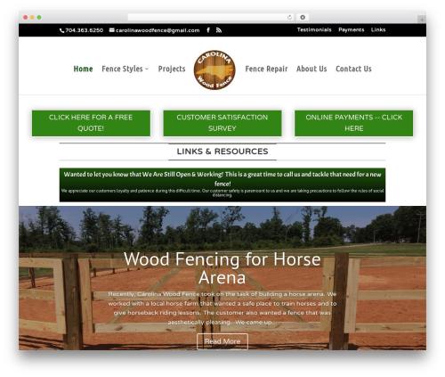 Template WordPress Divi - carolinawoodfence.com