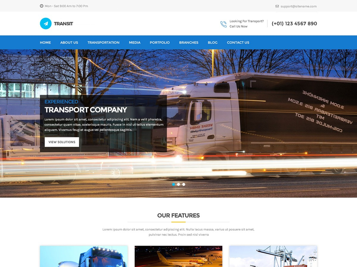 Transit Lite WordPress template for business