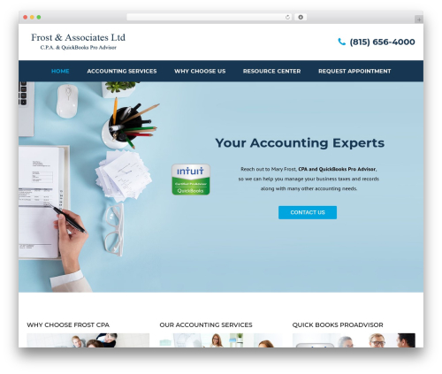 Accounting template WordPress - cpafrost.com