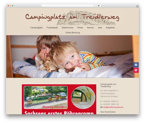 energy WordPress website template - treidlercamping.de