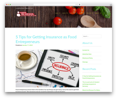 Food Express WordPress theme free download - chef-schools-baking-pastry.org