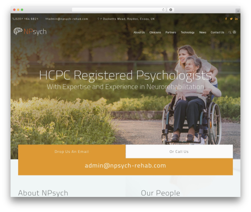 MedCare WordPress theme - npsych-rehab.com