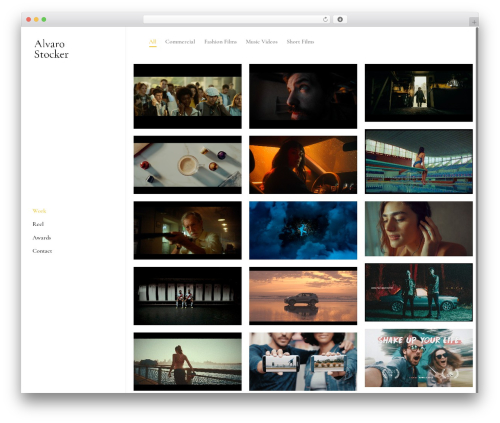 Salient WordPress website template - alvarostocker.com