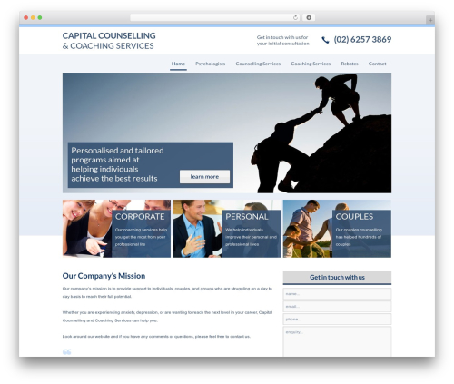Smart Theme WordPress theme - capitalcounselling.com.au