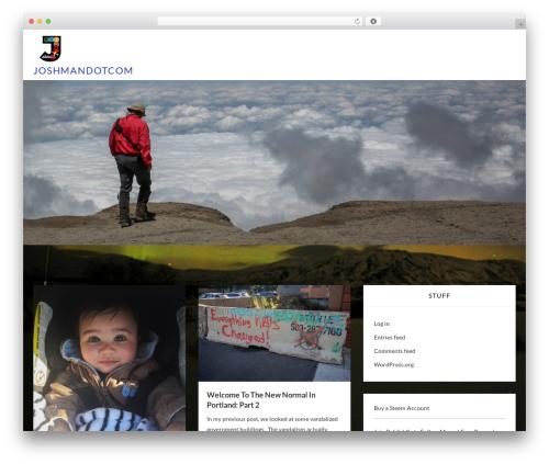Webblog WordPress theme design - joshman.com