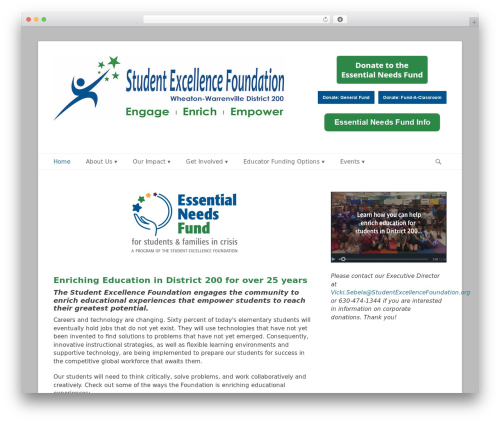 Best WordPress theme Catch Base Pro - studentexcellencefoundation.org