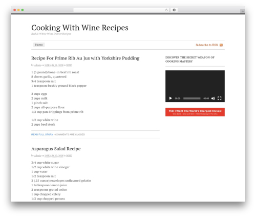 Canvas best WordPress theme - cookingwithwinerecipes.eu