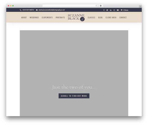 Divi WordPress theme - suzanneblackphotography.co.uk