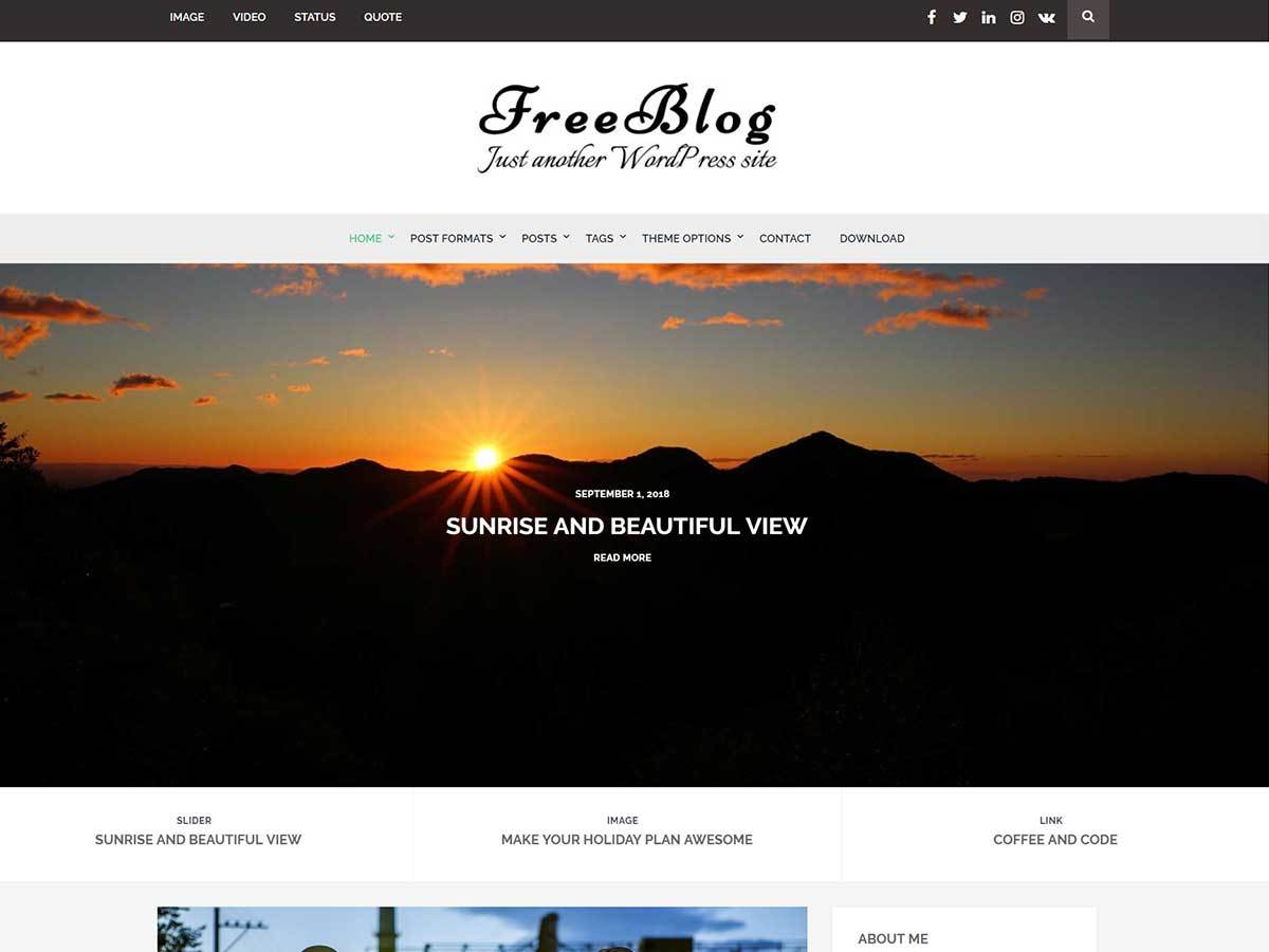 Free Blog WordPress blog theme