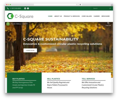 Recycle premium WordPress theme - csquareusa.com