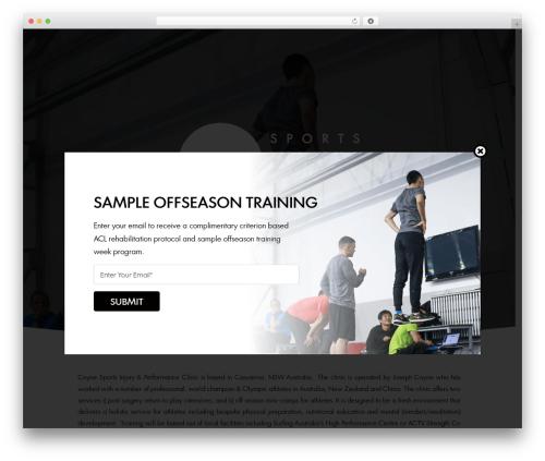 Smarty WordPress theme - coynesportsinjuryclinic.com.au