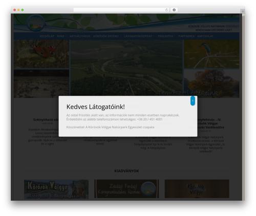 Template WordPress Flatsome - korosoknaturpark.hu
