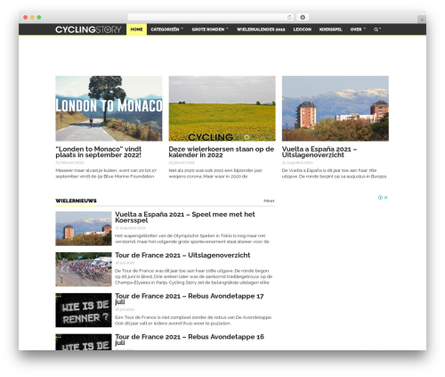 WordPress theme Goliath - cyclingstory.nl