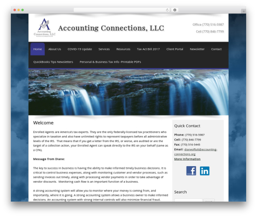 Customized top WordPress theme - accountingconnections.org