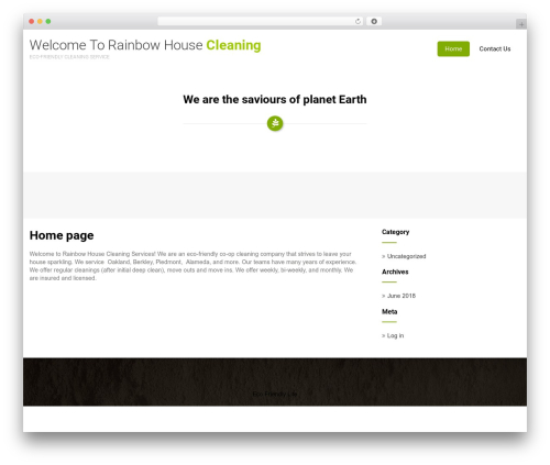 Eco Friendly Lite best WordPress theme - rainbowhousecleaning.com
