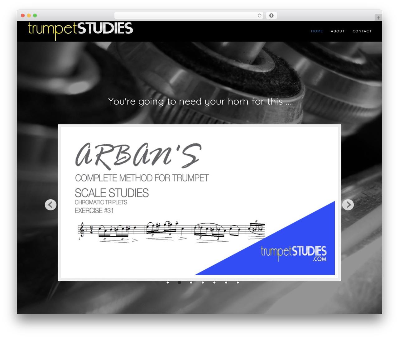 Genesis WordPress movie theme - trumpetstudies.com