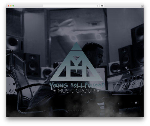 SoundRise WordPress theme design - younghollywoodmusicgroup.com