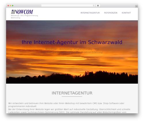 Template WordPress AccessPress Parallax - jetzt-ins-inter.net