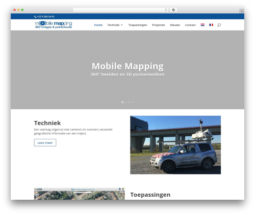 Template WordPress Divi - mobile-mapping.be