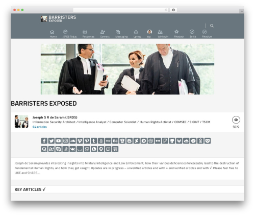 WordPress template Salient - barristers.exposed