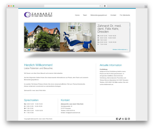 Theme WordPress smoothbiz - zahnarzt-kehr.de