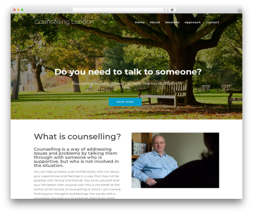 Divi WordPress page template - counselling-london.com