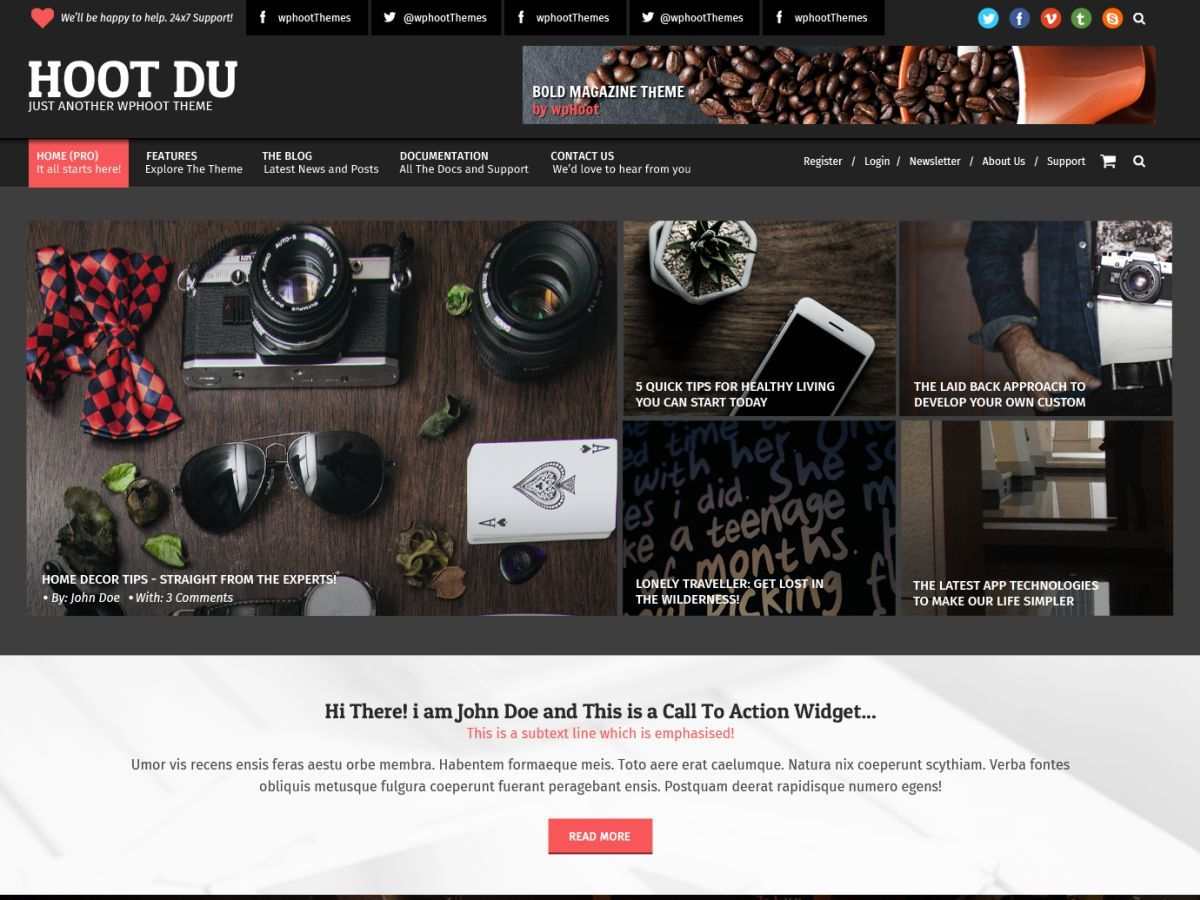 Hoot Du WordPress shopping theme