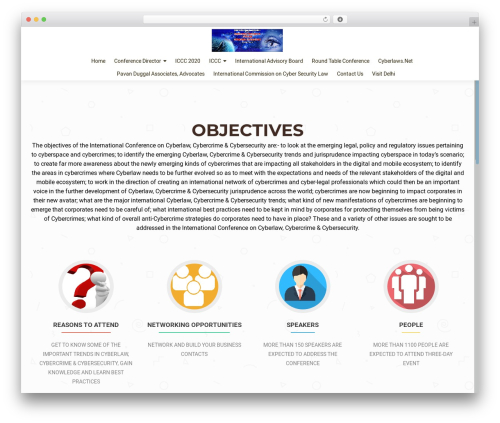 OnePirate best free WordPress theme - cyberlawconference.com