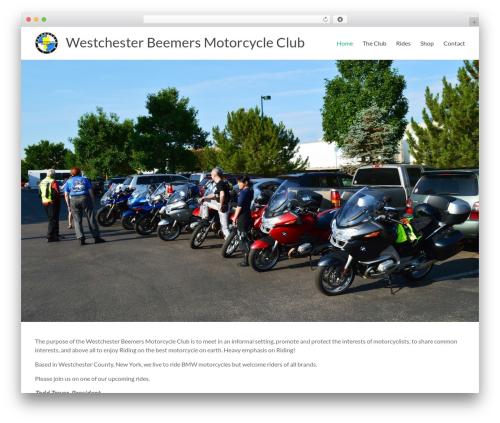 Spacious WordPress theme - westchesterbeemers.org