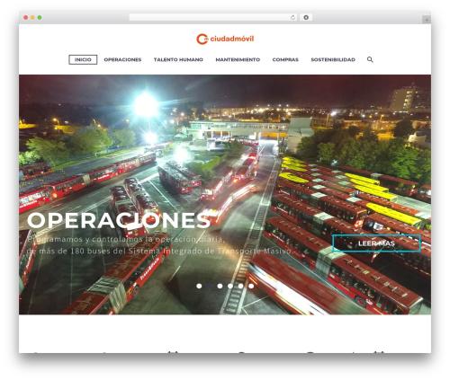 TheGem WordPress theme design - ciudadmovil.com.co