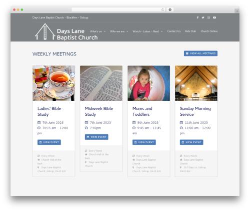 Theme WordPress Eden - dayslanebaptistchurch.org.uk