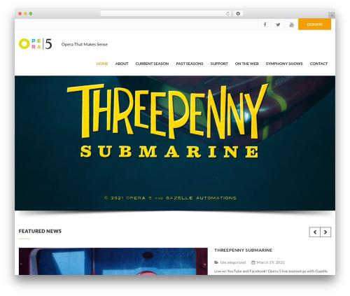 WordPress website template Charity WPL - opera5.ca
