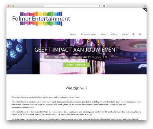 Avada best WordPress video theme - folmer-entertainment.nl