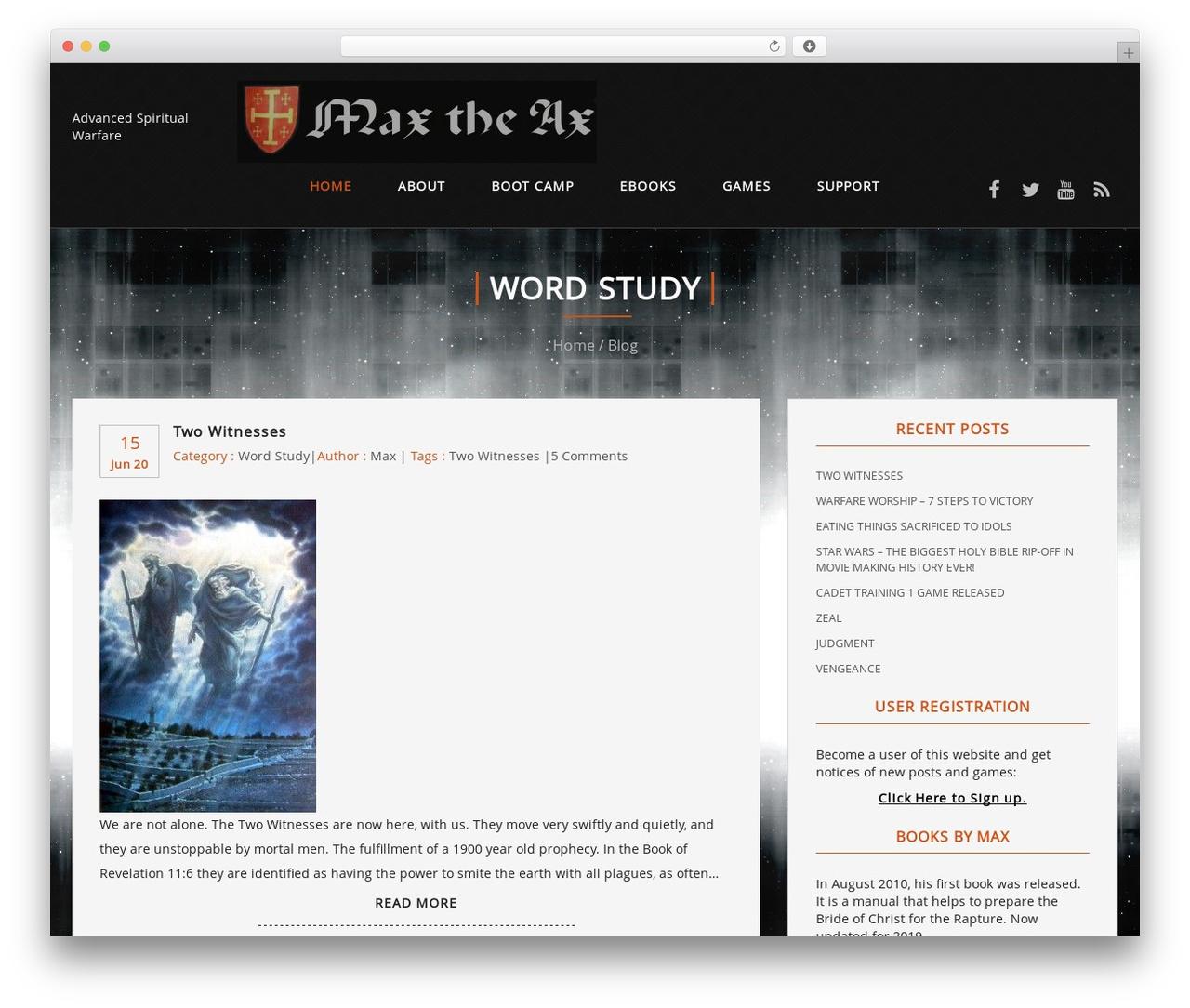 Best WordPress template Rider - maxtheax.com