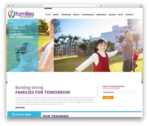 Bootstrap Basic theme WordPress - familiesfortomorrow.sg