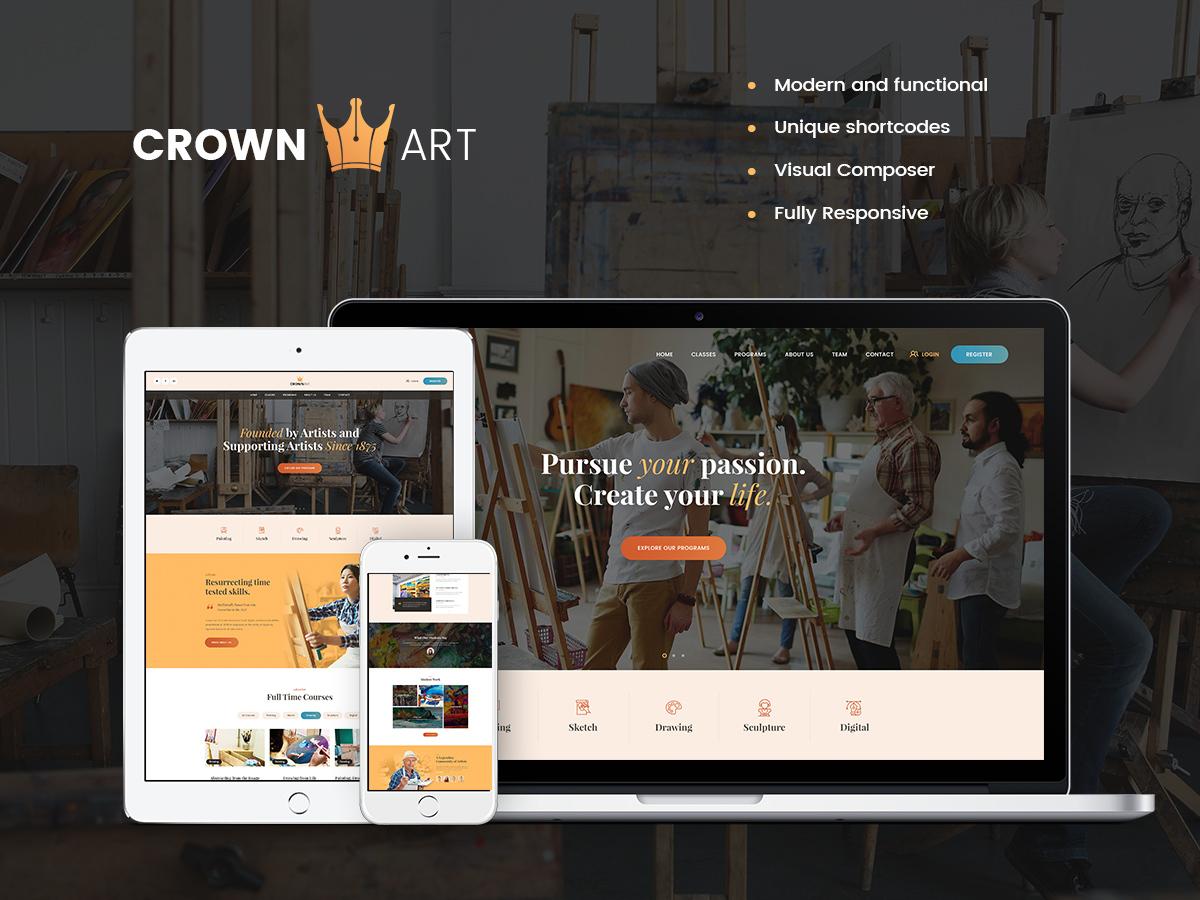 Crown Art WordPress blog theme