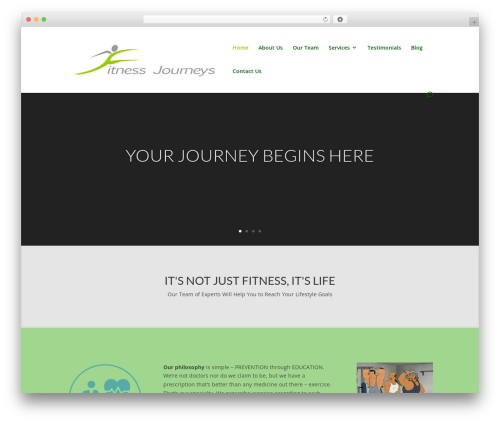 Divi fitness WordPress theme - fitnessjourneysnyc.com