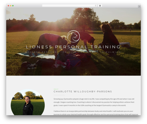 DMS WordPress theme - femalepersonaltrainerdulwich.com
