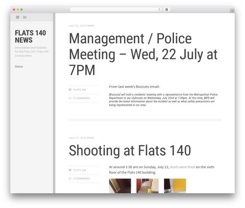 Editor newspaper WordPress theme - flats140.com